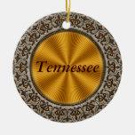 Tennessee Adorno Navideño Redondo De Cerámica