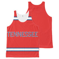 Tennessee All-Over Printed Unisex Tank
