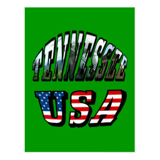 Tennessee and USA Picture Text Postcard
