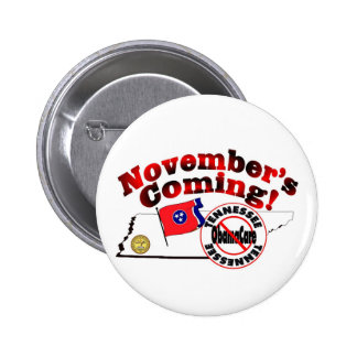 Tennessee Anti ObamaCare – November's Coming! Pinback Button