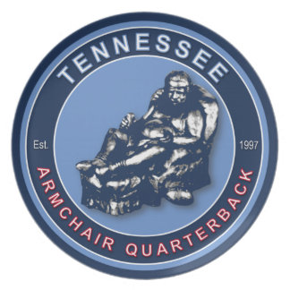 Tennessee Armchair Quarterback Plate