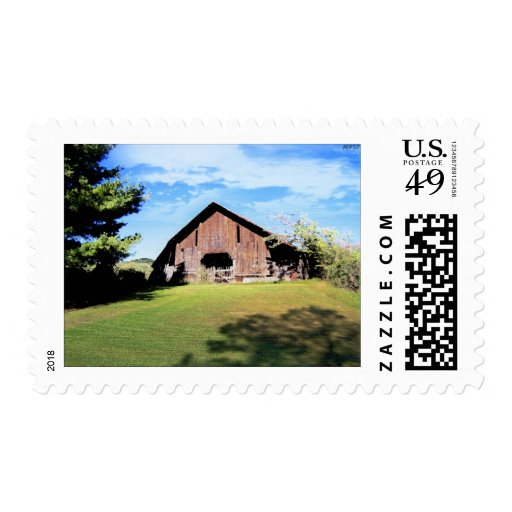 Tennessee Barn Postage Stamp