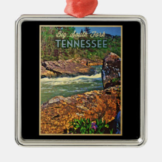 Tennessee Big South Fork Metal Ornament