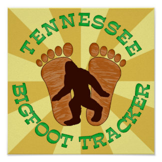 Tennessee Bigfoot Tracker Poster