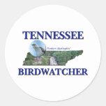 Tennessee Birdwatcher Pegatina Redonda
