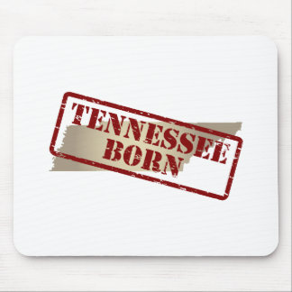 Tennessee Born - Stamp on Map Mouse Pad