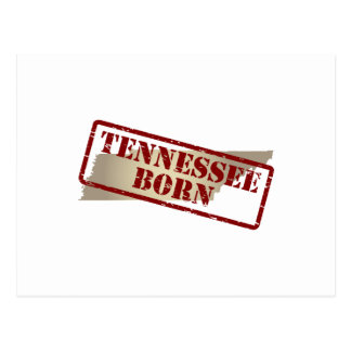 Tennessee Born - Stamp on Map Postcard