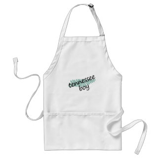 Tennessee Boy on Child's Tennessee Map Drawing Adult Apron