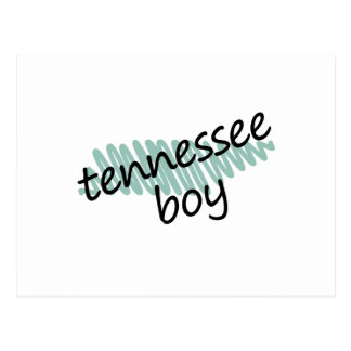 Tennessee Boy on Child's Tennessee Map Drawing Postcard