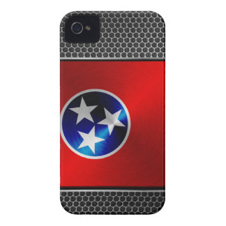 Tennessee brushed metal flag Case-Mate iPhone 4 cases