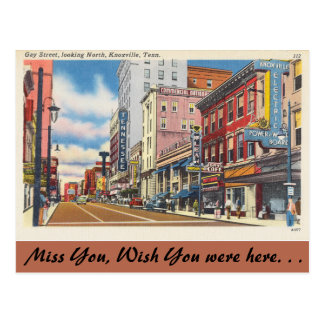Tennessee, calle gay, Knoxville Postales