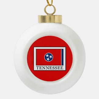 Tennessee Ceramic Ball Christmas Ornament