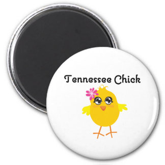 Tennessee Chick 2 Inch Round Magnet