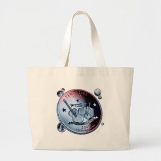 Tennessee coin - handful large tote bag