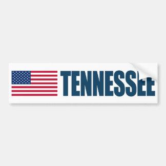 Tennessee con la bandera de los E.E.U.U. Pegatina Para Auto