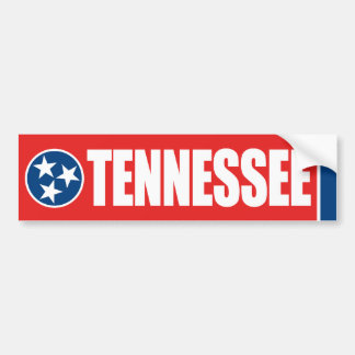 Tennessee con la bandera del estado pegatina para auto