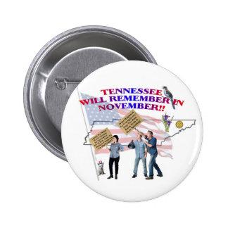 ¡Tennessee - congreso de vuelta a la gente! Pin Redondo 5 Cm