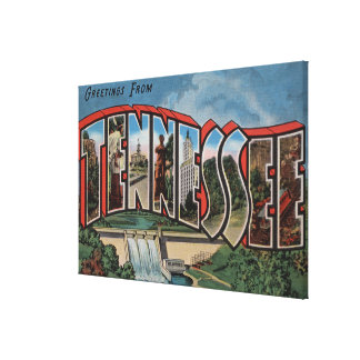 Tennessee (Dam)Large Letter ScenesTennessee Canvas Print