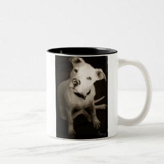 Tennessee Death Row Dogs' mascot Spud <3 Two-Tone Coffee Mug