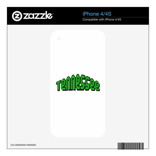 Tennessee Decal For iPhone 4S