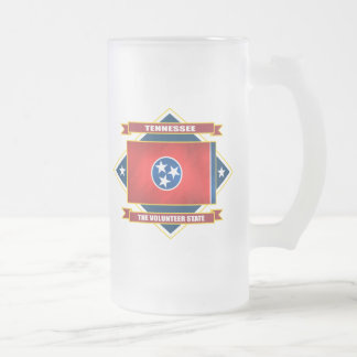 Tennessee Diamond Frosted Glass Beer Mug