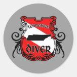 Tennessee Diver Round Sticker
