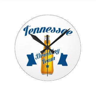 Tennessee Drinking team Round Clock