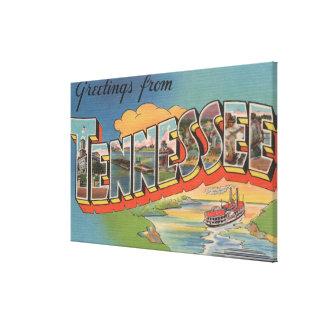 Tennessee (escena de la barca) lona envuelta para galerías
