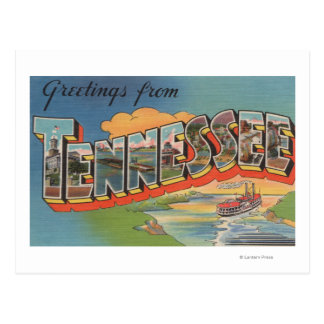 Tennessee (escena de la barca) tarjetas postales