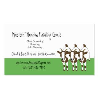 Tennessee Fainting Stiff Leg Goats Business Card