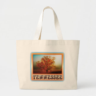 Tennessee Fall Tree Scene Large Tote Bag