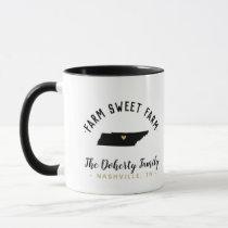 Tennessee Farm Sweet Farm Family Monogram Mug
