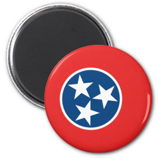 Tennessee Flag 2 Inch Round Magnet