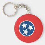 Tennessee Flag Basic Round Button Keychain