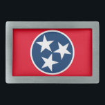 "Tennessee Flag Belt Buckle<br><div class=""desc"">The tristar emblem on the Tennessee state flag.</div>"