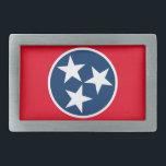 "Tennessee Flag Belt Buckle<br><div class=""desc"">The tristar emblem on the Tennessee state flag.</div>"