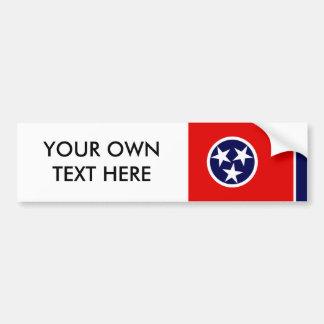 TENNESSEE Flag Bumper Sticker