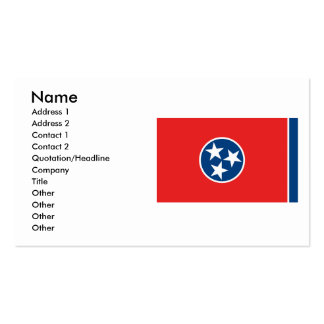 Tennessee Flag Double-Sided Standard Business Cards (Pack Of 100)