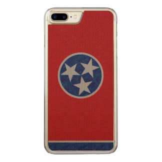 Tennessee Flag Carved iPhone 8 Plus/7 Plus Case