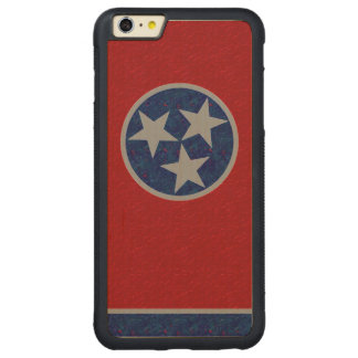 Tennessee Flag Carved Maple iPhone 6 Plus Bumper Case