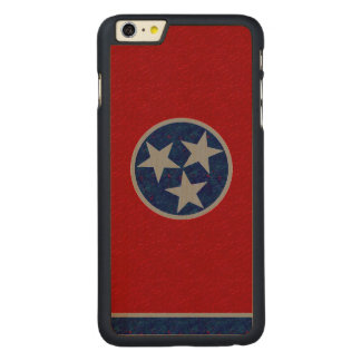 Tennessee Flag Carved Maple iPhone 6 Plus Case