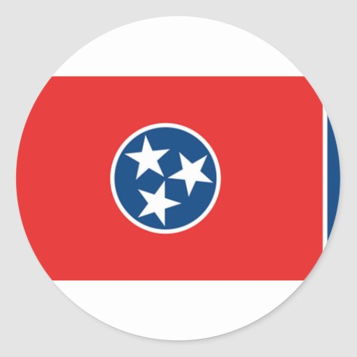 Tennessee Flag Classic Round Sticker
