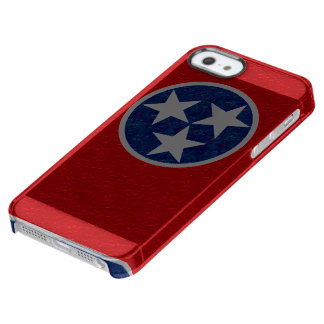Tennessee Flag Clear iPhone SE/5/5s Case