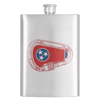 Tennessee Flag Climbing Carabiner Flask