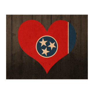 Tennessee flag colored queork photo print