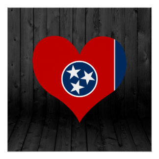 Tennessee flag colored perfect poster