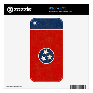 TENNESSEE FLAG DECAL FOR iPhone 4