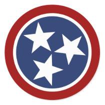 Tennessee Flag Emblem Classic Round Sticker