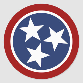 Tennessee Flag Emblem Stickers