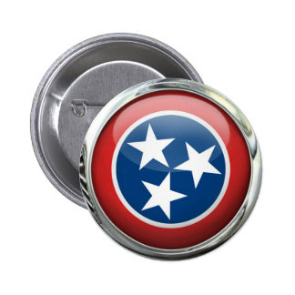 Tennessee Flag Glass Ball Button